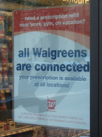 Walgreens sign
