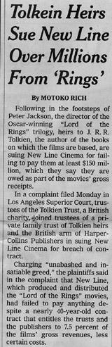 NYT on Tolkien films