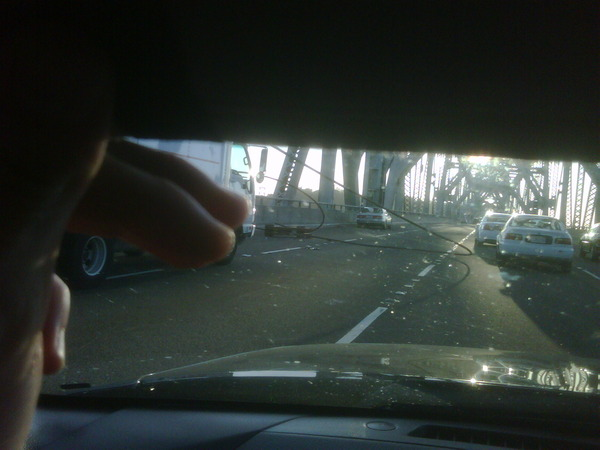Bay Bridge cable down (via Twitpic)